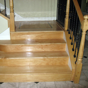 new wood flooring on stairs
